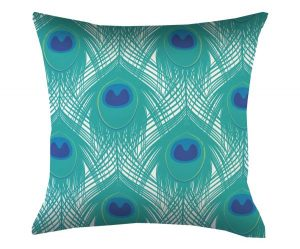 cushion-peacock-feather-print