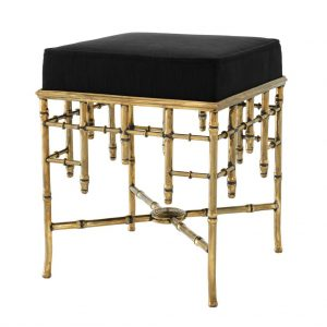 stool-gold-metal-black-velvet